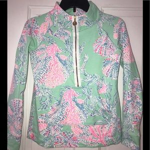 Lilly Pulitzer Teal Skipper Popover!!